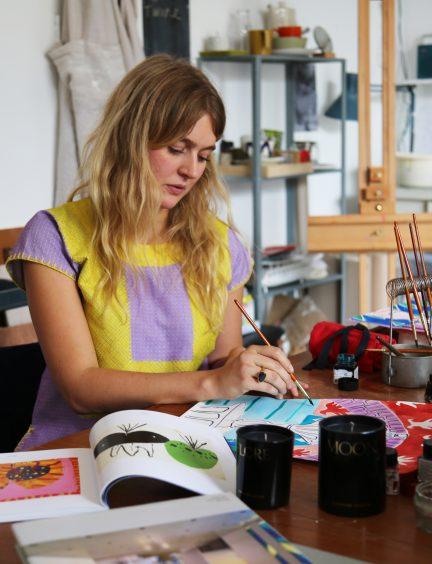 Rose Harris at work