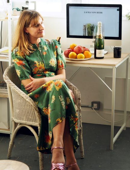 At work with: Laura Von Behr 10