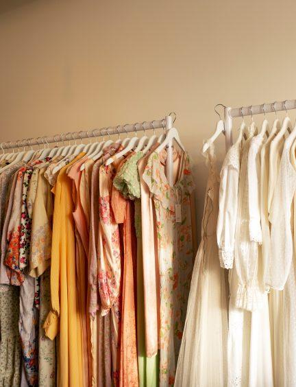 Vintage rail of clothes