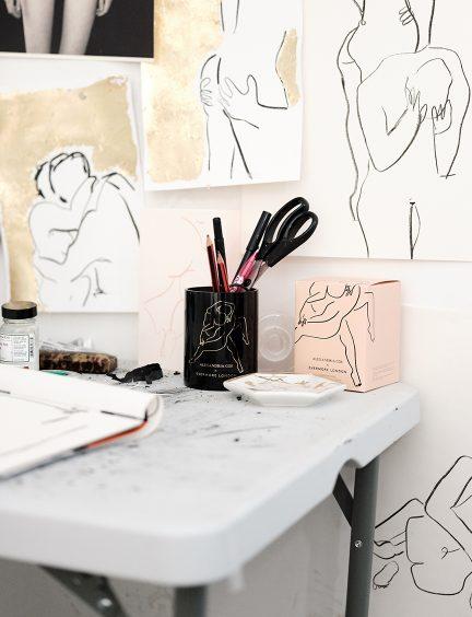 Alexandria Coe's studio