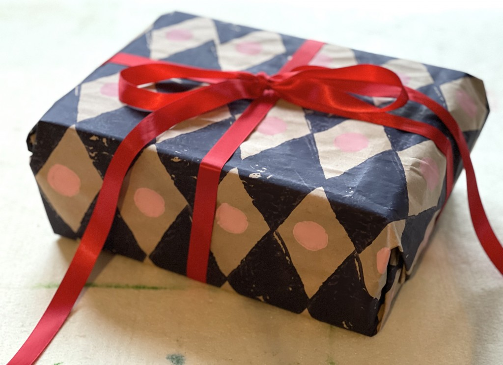 Homemade Christmas wrapping paper by Molly Mahon
