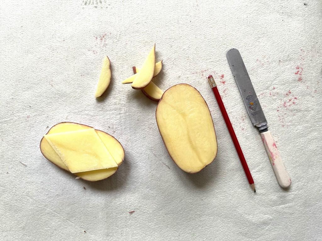 Molly Mahon Potato Printing