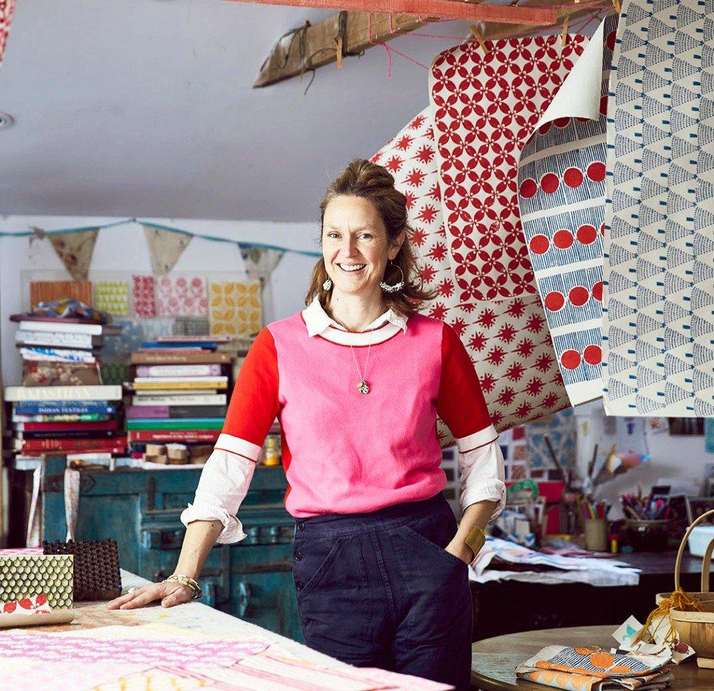 Molly Mahon block printing
