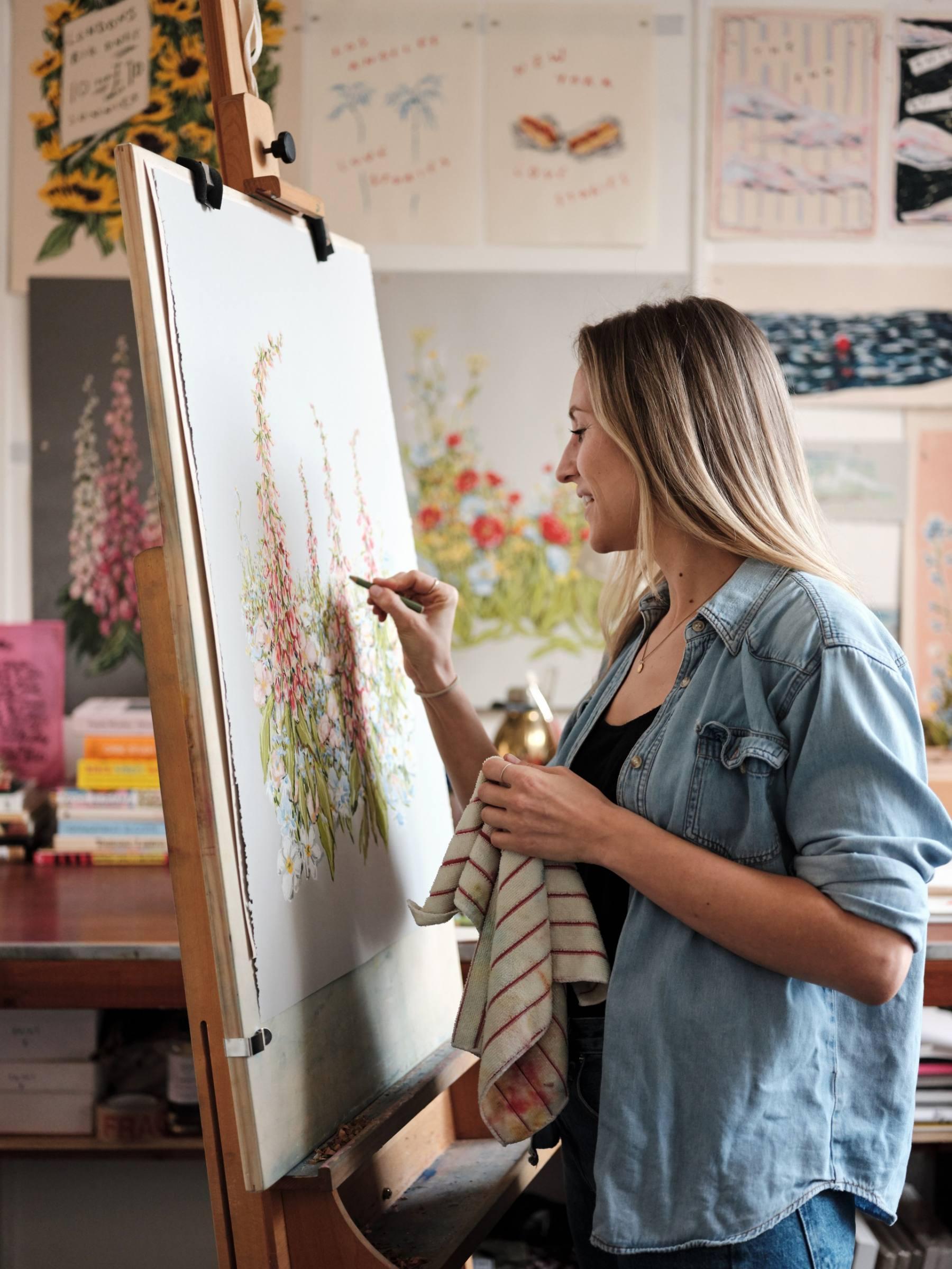 Artist, Lucy Mahon's Studio