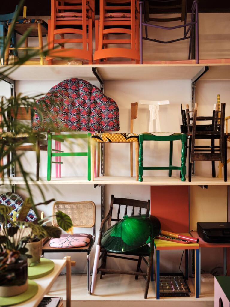 Designer, Yinka Ilori's Studio